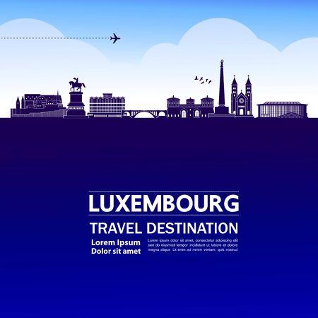 Luxembourg travel destination grand vector illustration.