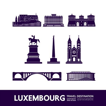 Luxembourg travel destination grand vector illustration.