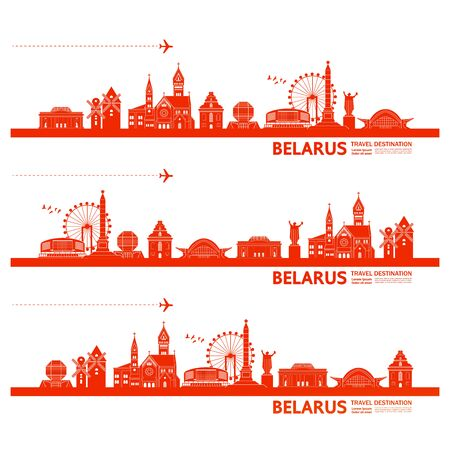 Belarus travel destination vector illustration.