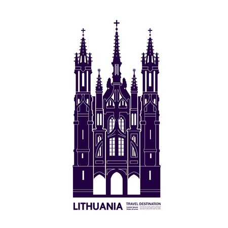 Lithuania travel destination grand vector illustration.
