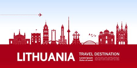 Lithuania travel destination grand vector illustration. Векторная Иллюстрация