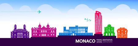Monaco travel destination grand vector illustration. Illustration