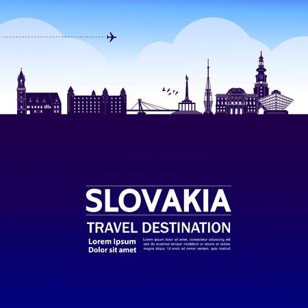 Slovakia travel destination grand vector illustration. Векторная Иллюстрация