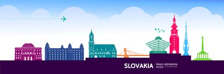 Slovakia travel destination grand vector illustration.
