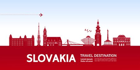 Slovakia travel destination grand vector illustration.