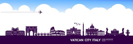 Italy travel destination grand vector illustration.