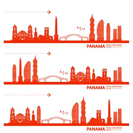 Panama travel destination grand vector illustration.