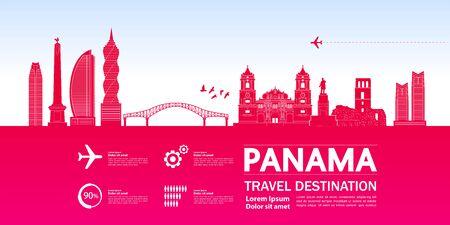 Panama travel destination grand vector illustration. Stock fotó - 129765462