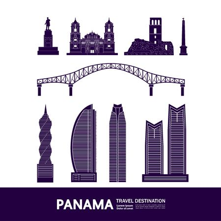 Panama travel destination grand vector illustration.