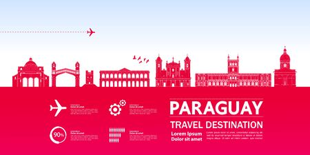 Paraguay travel destination grand vector illustration. Фото со стока - 133208558