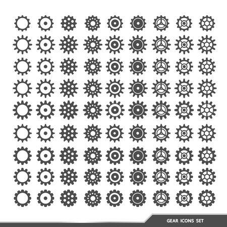 Gear icons set vector illustration.