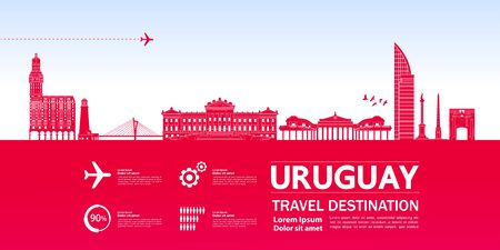Uruguay travel destination grand vector illustration. Ilustracja