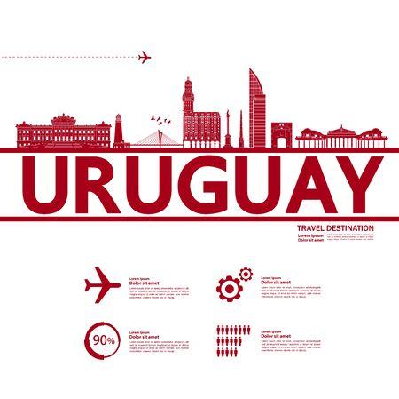 Uruguay travel destination grand vector illustration. Иллюстрация