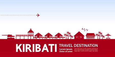 Kiribati travel destination grand vector illustration.
