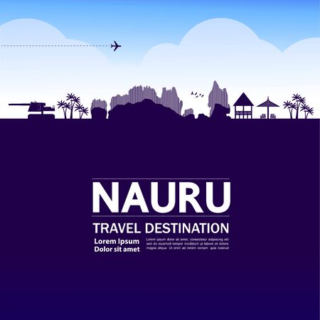 Nauru travel destination grand vector illustration. Фото со стока - 133617635
