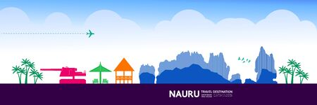 Nauru travel destination grand vector illustration.