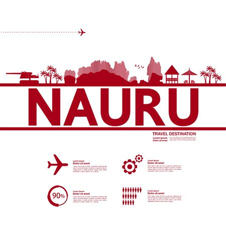 Nauru travel destination grand vector illustration. Фото со стока - 133617642