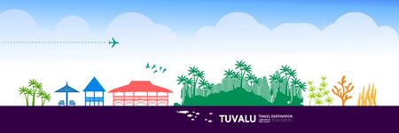 Tuvalu travel destination grand vector illustration.