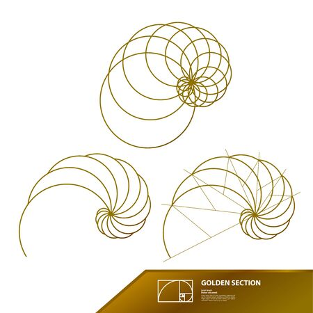 Golden ratio for creative design vector illustration.