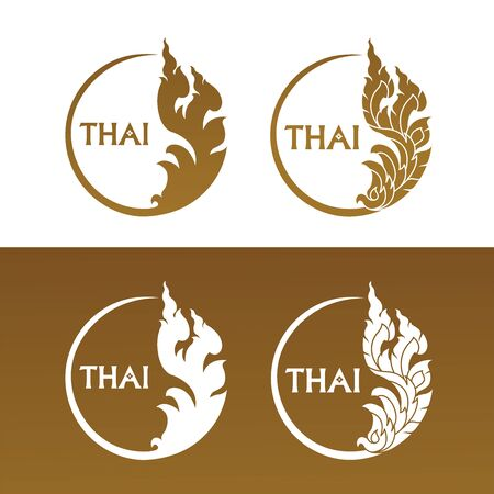 Thai art element for Thai graphic design vector illustration.