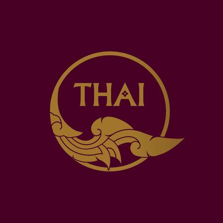 Thai art element for Thai graphic design vector illustration.