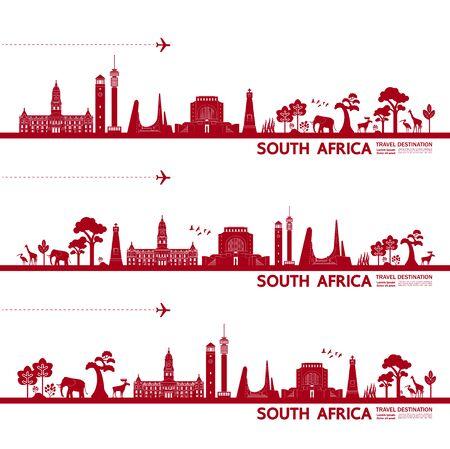 South Africa travel destination grand vector illustration.