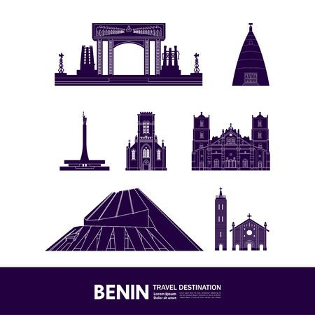 Benin travel destination grand vector illustration.