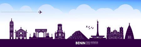 Benin travel destination grand vector illustration.