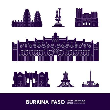 Burkina Faso travel destination grand vector illustration.