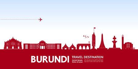 Burundi travel destination grand vector illustration.