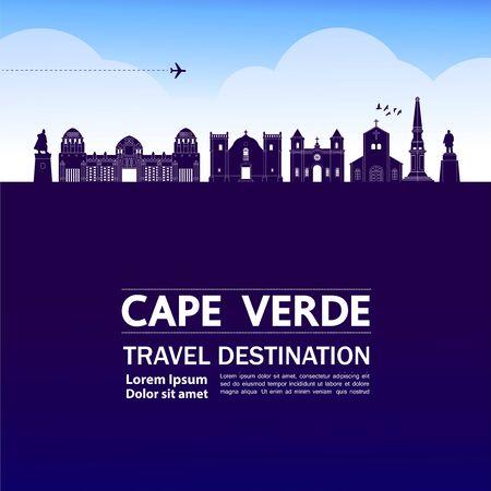 Cape Verde travel destination grand vector illustration.