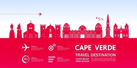 Cape Verde travel destination grand vector illustration.