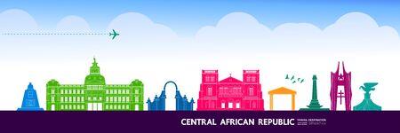 Central African Republic travel destination grand vector illustration. Vecteurs