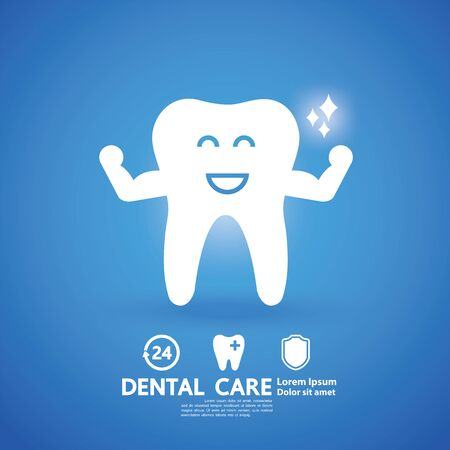 Dental Care Creative Concept vector illustration.