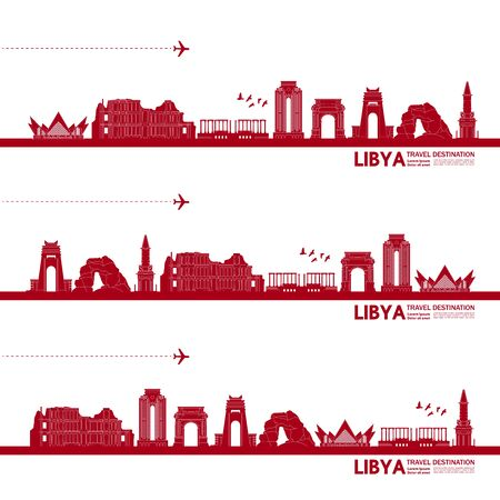 Libya travel destination grand vector illustration. Ilustrace