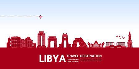 Libya travel destination grand vector illustration.