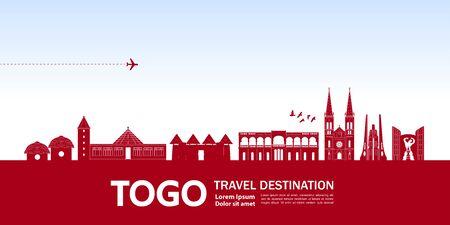 Togo travel destination grand vector illustration.