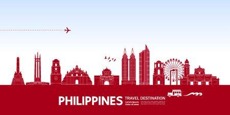 Philippines travel destination grand vector illustration.  イラスト・ベクター素材