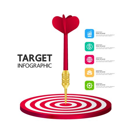 Business and success target focus vector illustration. Ilustracja