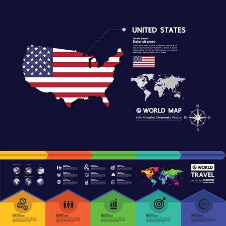 USA travel destination grand vector illustration. Zdjęcie Seryjne - 151330247