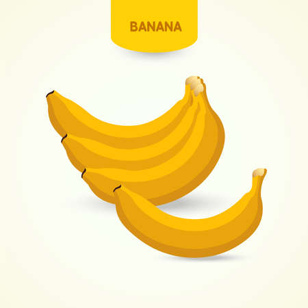 Banana fresh fruit vector illustration.