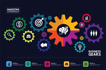 Business and success target and goal focus vector illustration.