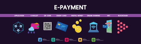 E payment business and goal focus vector illustration. Ilustrace