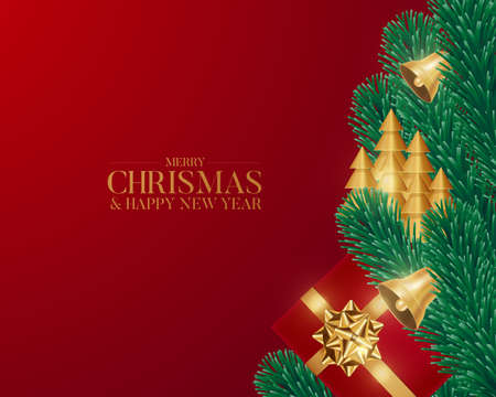 Merry Christmas and happy new year vector illustration.