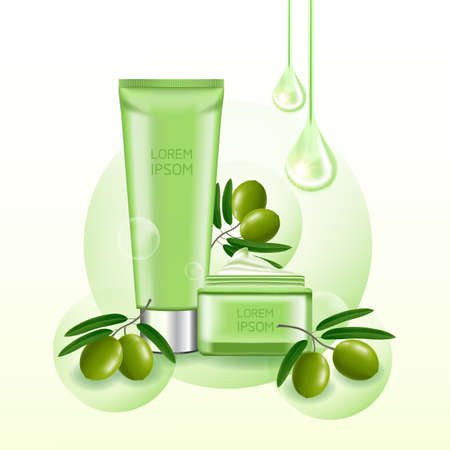 Olive beauty and cosmetic elegant illustration.