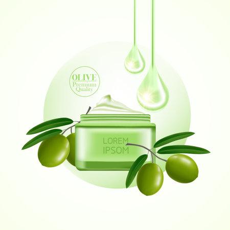 Olive beauty and cosmetic elegant illustration.
