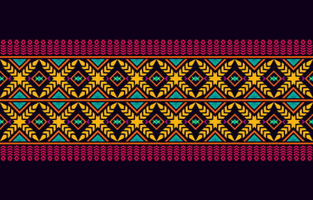 Seamless pattern repeating design with geometric shapes.