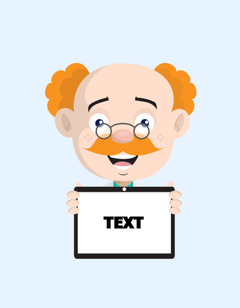Cheerful Doctor Showing Message on Tablet Vector
