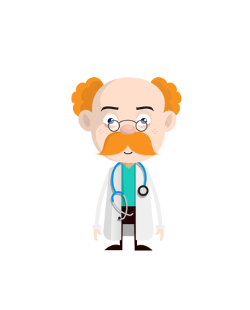 Surprised Old Doctor Face Expression Vector