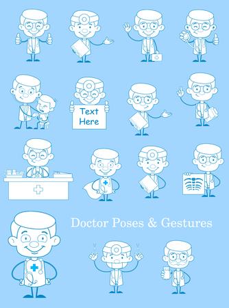 Vintage Doctor Medical Concepts Vector Set